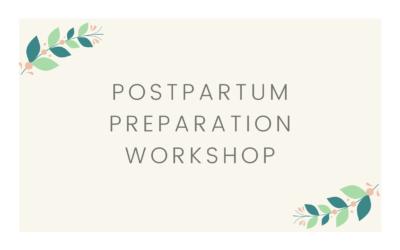 Postpartum Preparation Workshop